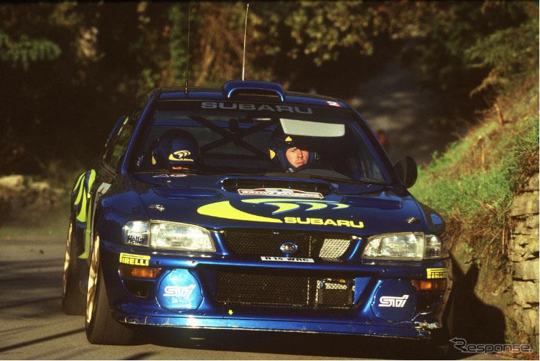 スバル・インプレッサ 555 WRC(1998年)《写真提供 AUTOMOBILE COUNCIL 2021 実行委員会》