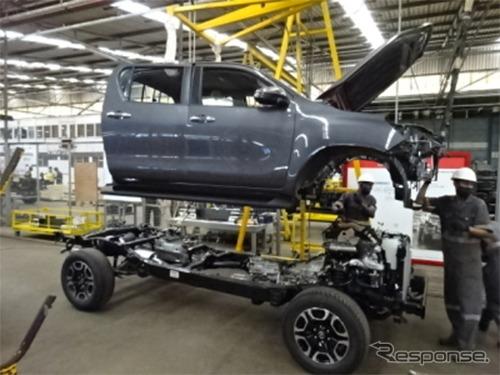 Associated Vehicle Assemblers Ltd. の組み立て生産ライン《写真提供 豊田通商》