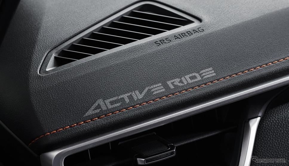 トヨタ カローラ ツーリング アクティブライド専用ロゴ(レーザー刻印)《写真提供 トヨタ自動車》