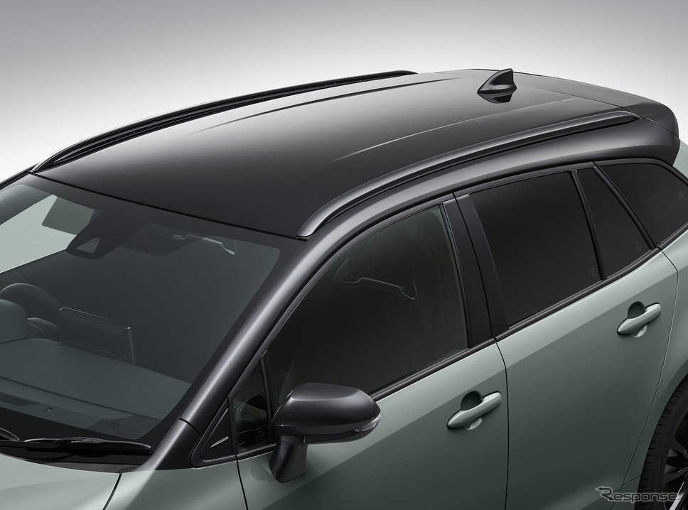 トヨタ カローラ ツーリング アクティブライドルーフレール(ダークグレーメタリック塗装)《写真提供 トヨタ自動車》