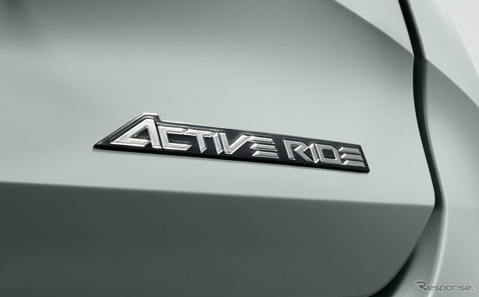 トヨタ カローラ ツーリング アクティブライドエンブレム<販売店装着オプション>《写真提供 トヨタ自動車》
