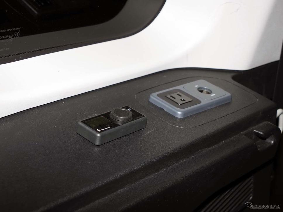 車内の暖房に効果的な「エアヒーター」のコントローラー《写真撮影 会田肇》