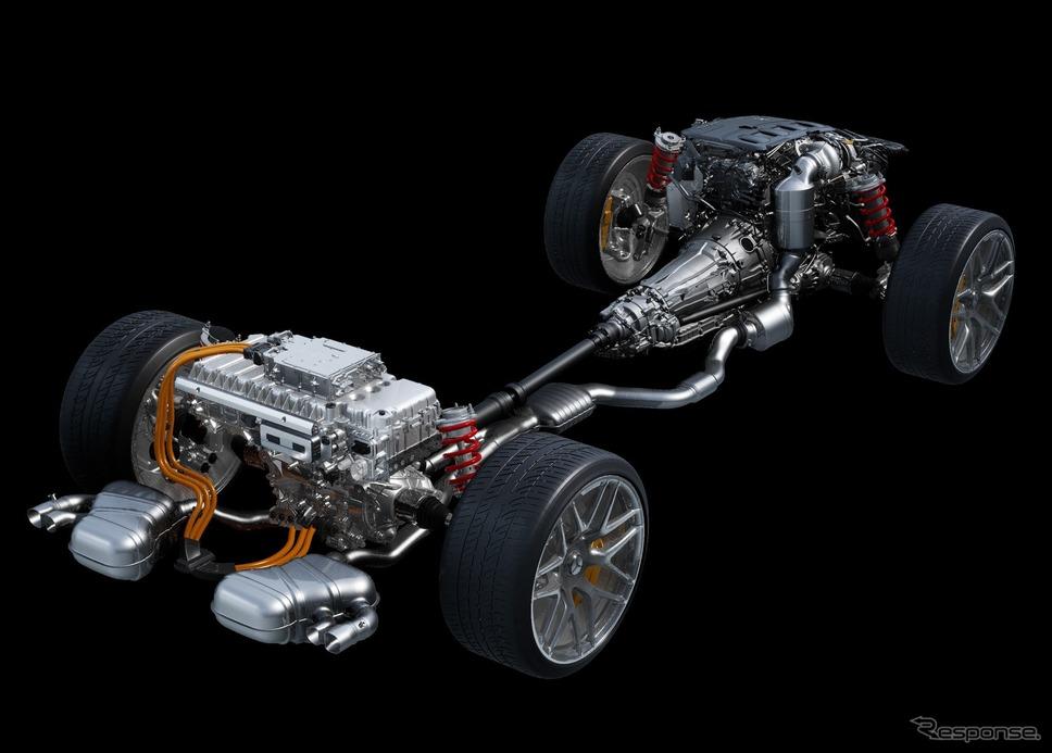 メルセデスAMG Cクラス 新型の車台《photo by Mercedes-Benz》