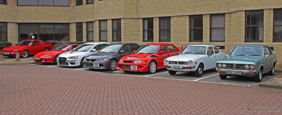 オークションに出品される英国三菱自動車が保有する車両《photo by Mitsubishi Motors》
