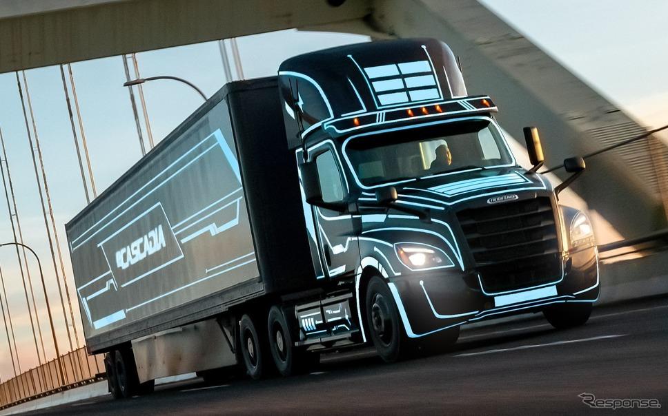 ダイムラーのEVトラック、フレートライナー『eカスケディア』《photo by Daimler》