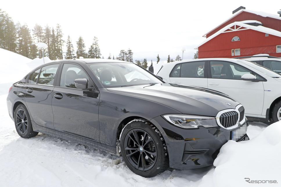BMW 3シリーズ 改良新型プロトタイプ (スクープ写真)《APOLLO NEWS SERVICE》
