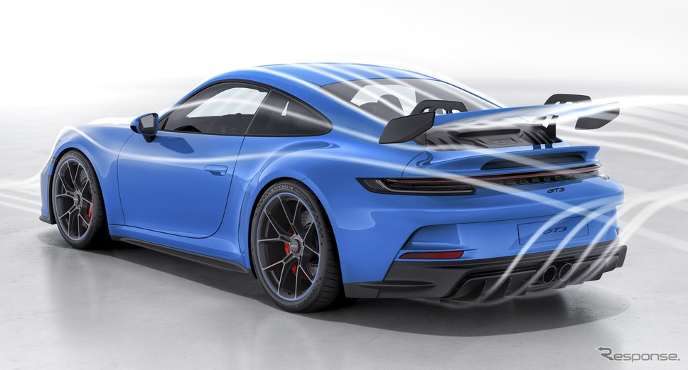 ポルシェ 911 GT3 新型の空力テスト《photo by Porsche》