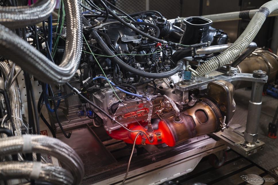 ポルシェ 911 GT3 新型のエンジンテスト《photo by Porsche》