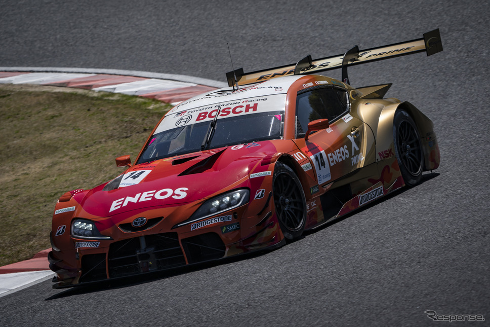 GT500クラス予選2位の#14 ENEOS X PRIME GR Supra(大嶋和也/山下健太)《写真撮影 益田和久》
