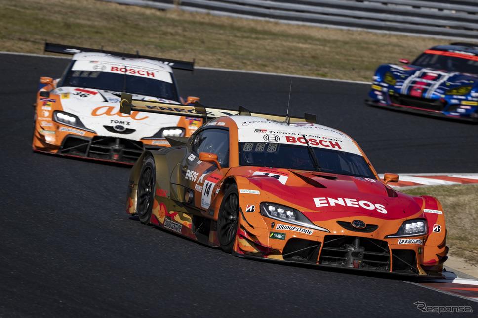 GT500クラス優勝の#14 ENEOS X PRIME GR Supra《写真撮影 益田 和久》
