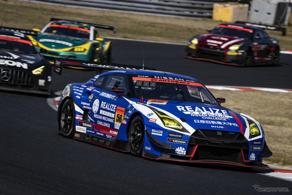 GT300クラス優勝の#56 リアライズ日産自動車大学校 GT-R《写真撮影 益田 和久》