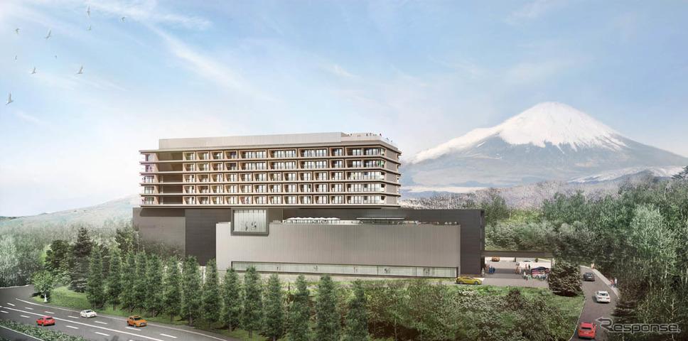 富士スピードウェイ西ゲートに建設予定の「アンバウンドコレクションby Hyatt」《写真提供 東和不動産》