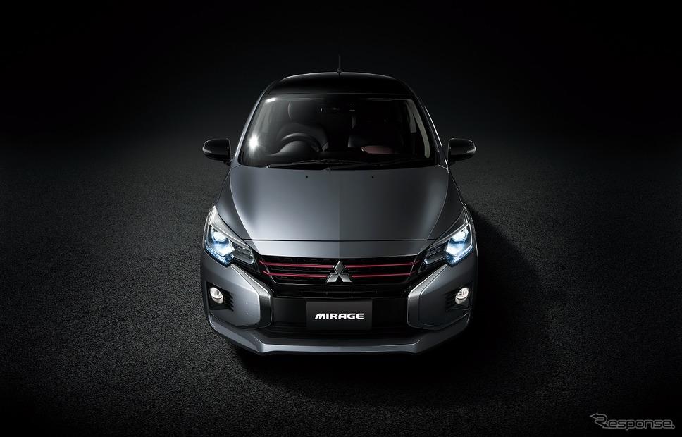 三菱 ミラージュ ブラックエディション(グレー/ブラック)《写真提供 三菱自動車》