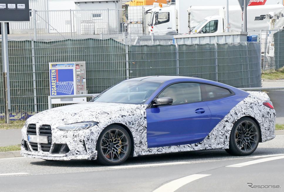 BMW M4 CSL プロトタイプ(スクープ写真)《APOLLO NEWS SERVICE》
