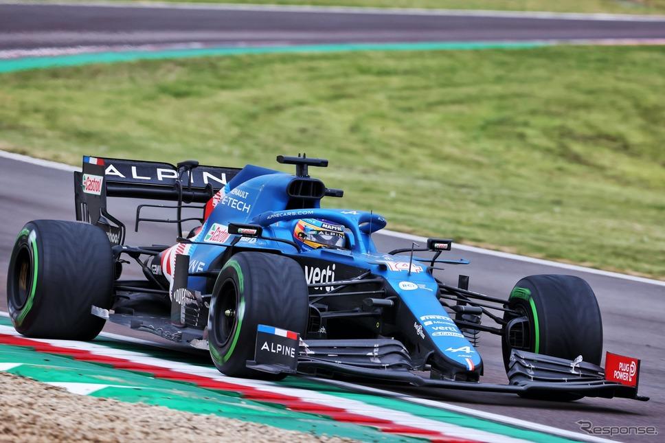 アロンソ(F1 エミリア・ロマーニャGP)《photo by Alpine》