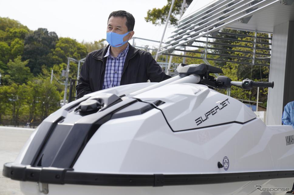 ヤマハの新型マリンジェット『SUPERJET(スーパージェット)』開発者の松本千宏氏《写真撮影 柳田由人》