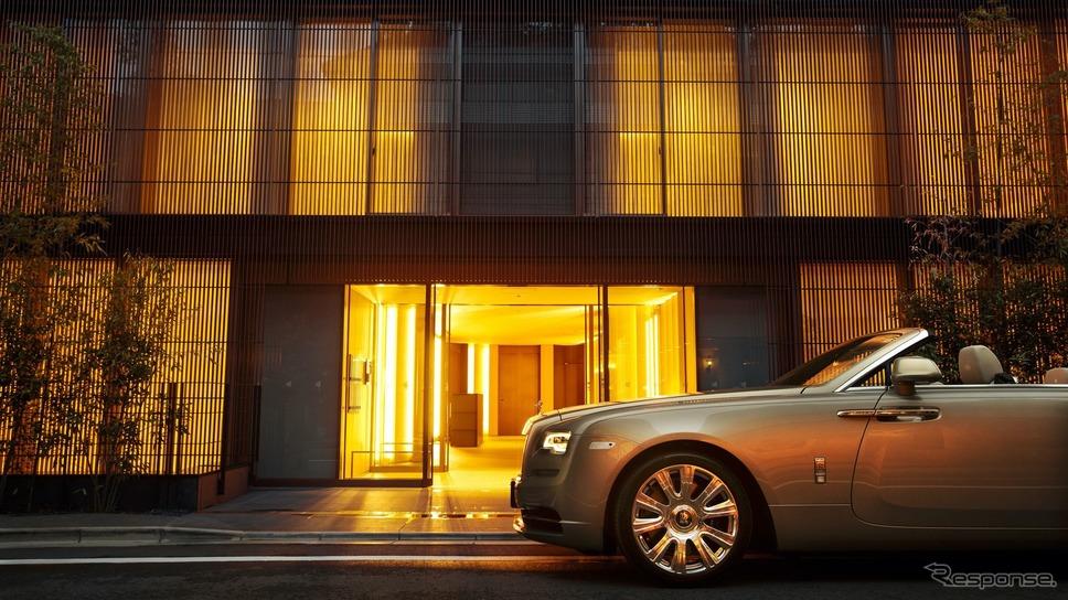 「The Kita Tea House」のオーナーのために開発されたロールスロイス・ドーン《photo by Rolls-Royce》