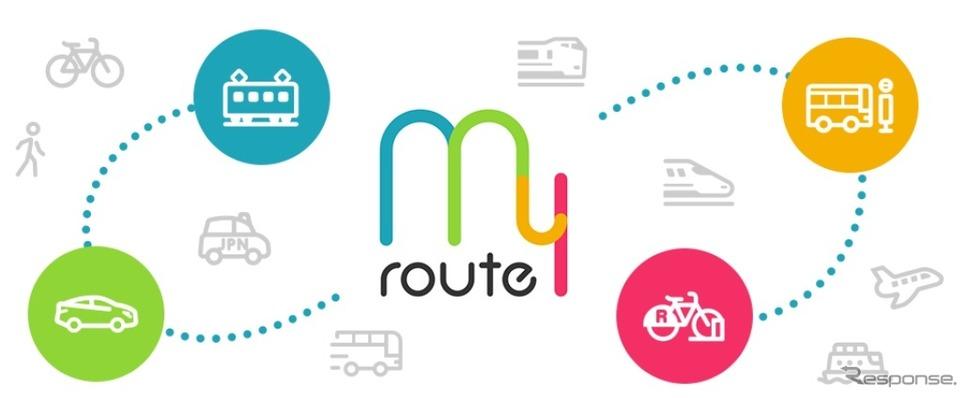 マルチモーダルモビリティサービス「my route」《画像提供 西日本鉄道》