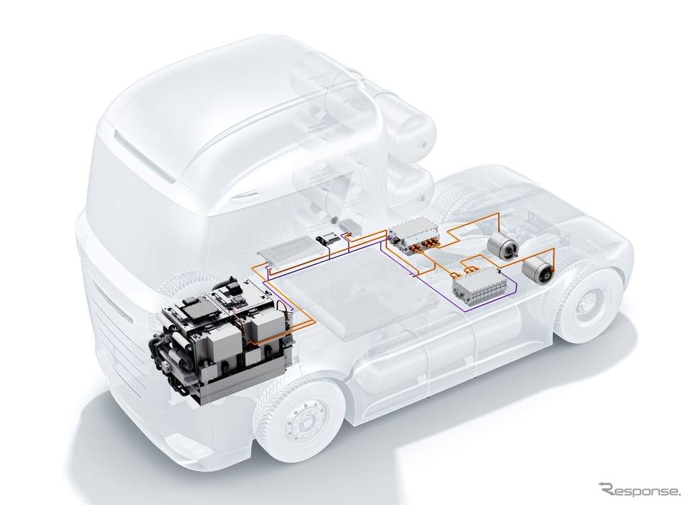 ボッシュの燃料電池パワートレイン《photo by Bosch》