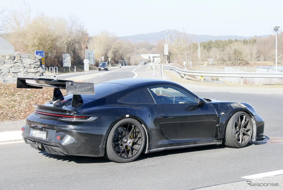 ポルシェ 911 GT3 RS 新型プロトタイプ(スクープ写真)《APOLLO NEWS SERVICE》