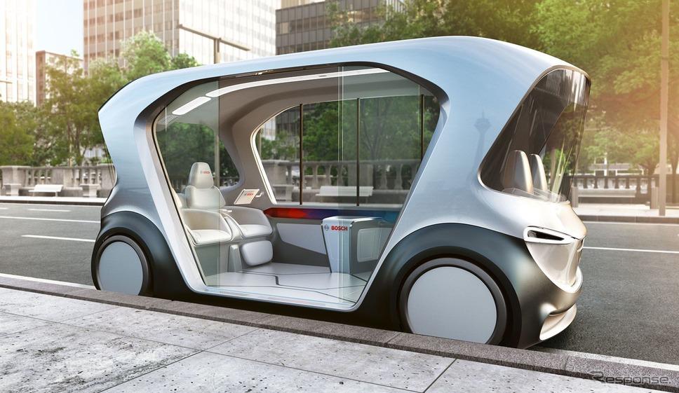 ボッシュの自動運転EVコンセプトカー《photo by Bosch》