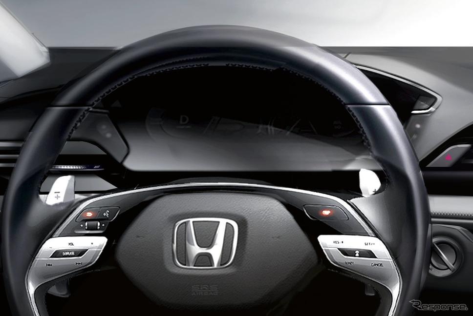 ホンダの次世代インテリアのスケッチ《photo by Honda》