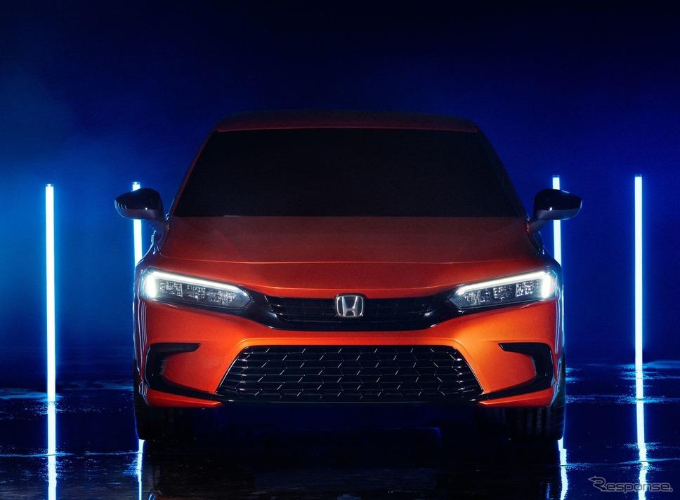 ホンダ ・シビック ・セダン 新型のプロトタイプ(参考)《photo by Honda》