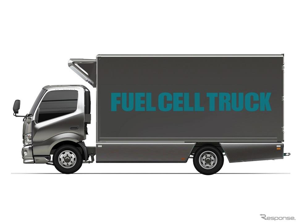 トヨタ自動車などが開発中の燃料電池トラック《画像提供 トヨタ自動車》