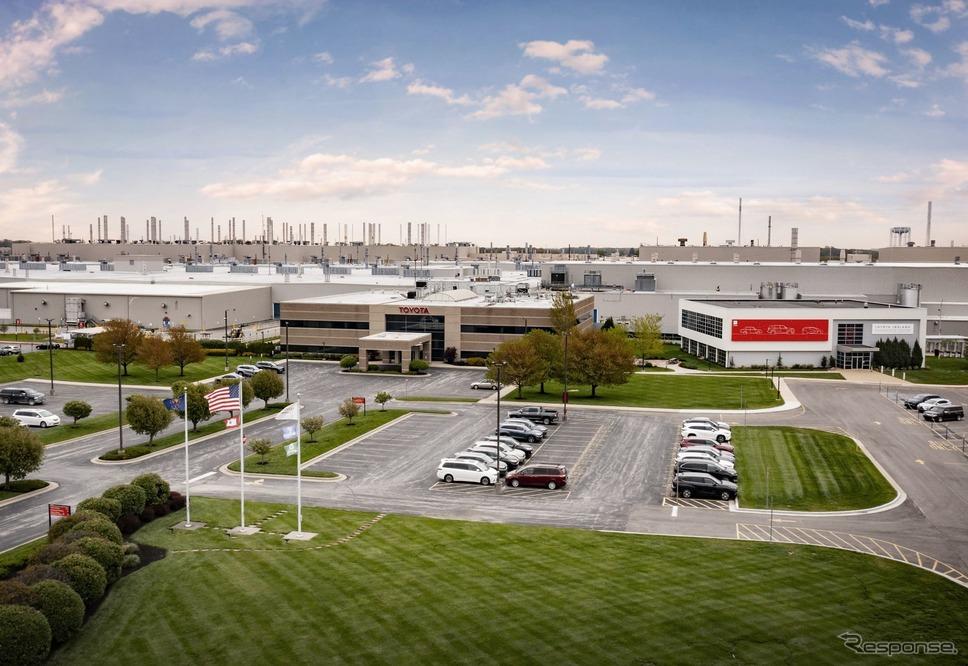 トヨタの米国インディアナ州のトヨタ・モーター・マニュファクチャリング・インディアナ(TMMI)《photo by Toyota》