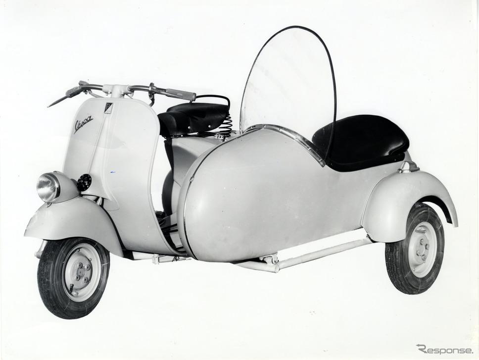 ベスパ125サイドカー(1955年)《photo by Vespa》