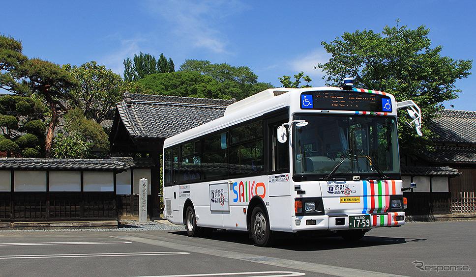 埼玉工業大学が開発した自動運転システムを中型路線バスに搭載、深谷観光バスが「渋沢栄一 論語の里 循環バス」として運行中《写真撮影 大野雅人》