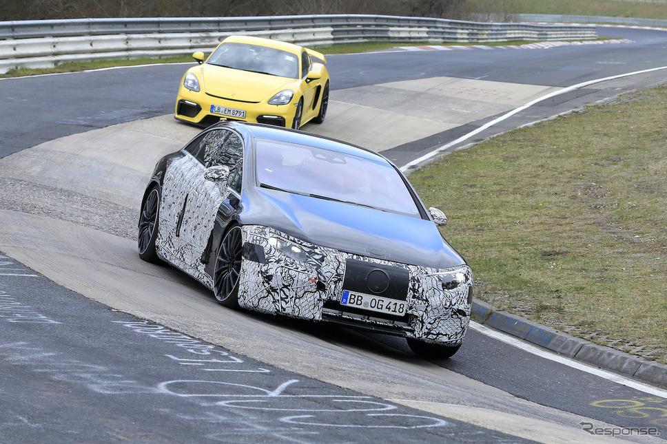 メルセデス EQS AMG 市販型プロトタイプ(スクープ写真)《APOLLO NEWS SERVICE》