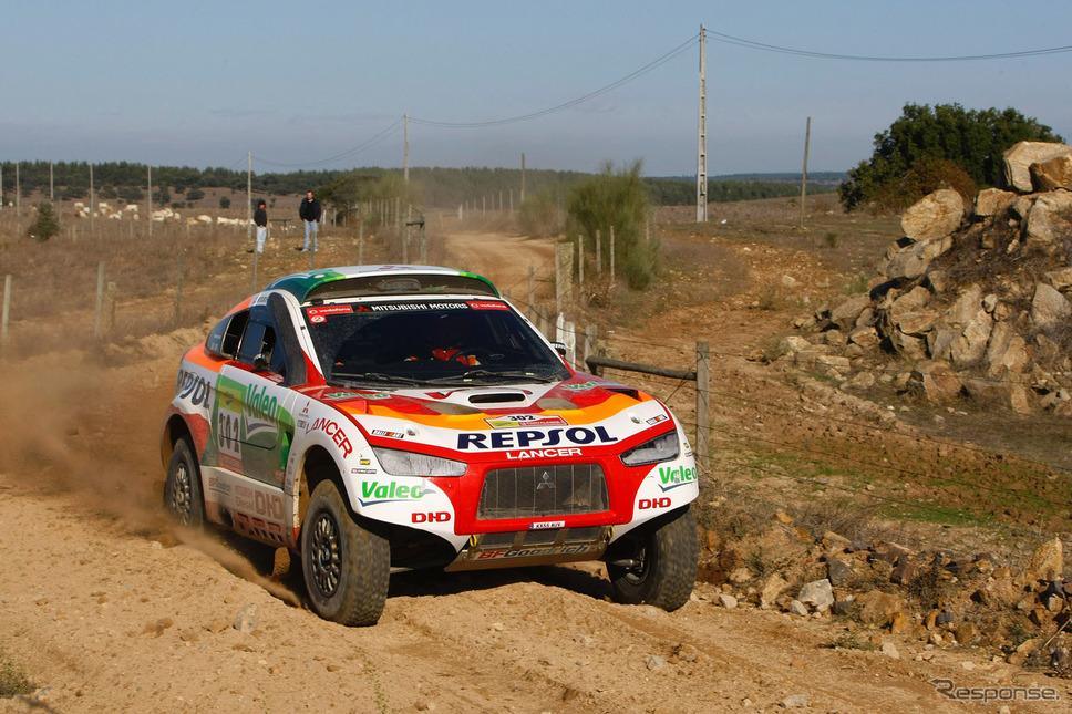 2008年FIAクロスカントリーバハ・インターナショナルカップ第6戦バハ・ポルトガル《画像提供 三菱自動車》