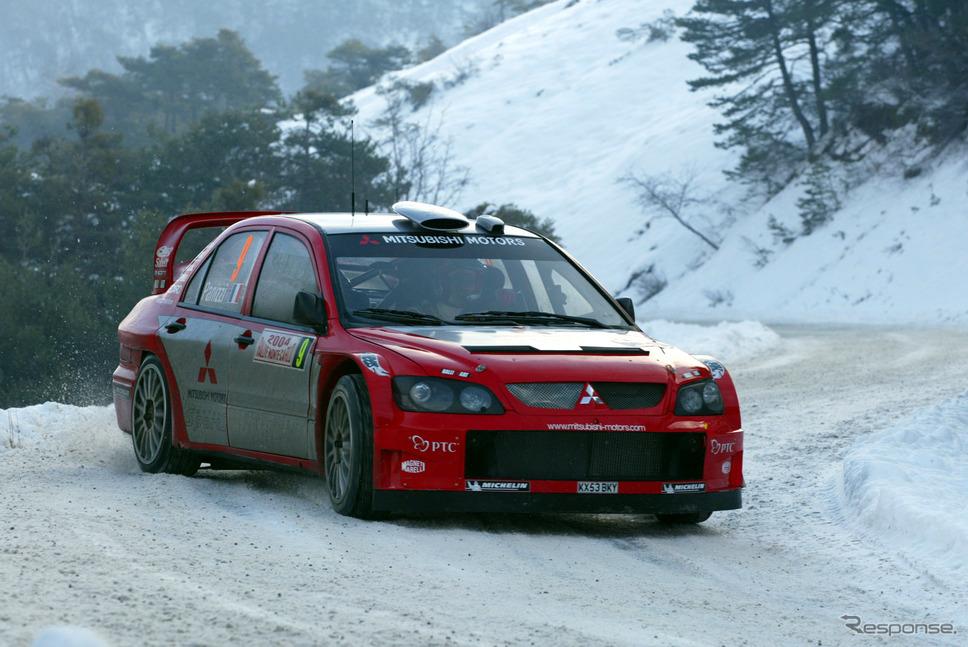 2004年WRC第1戦モンテカルロラリー《画像提供 三菱自動車》