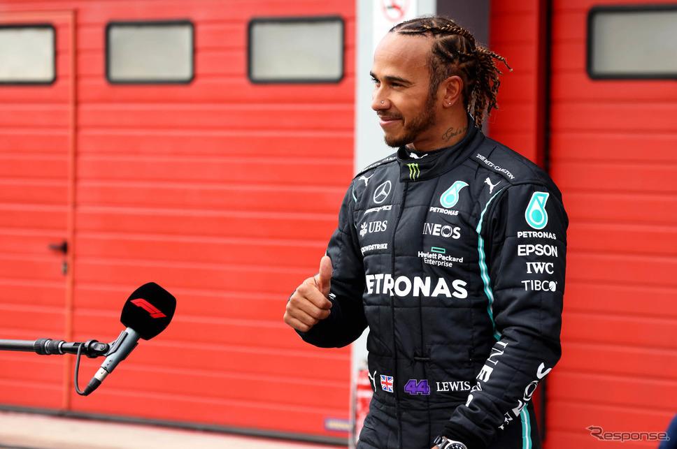 数々の記録を打ち立て続けているハミルトン(写真は今季第2戦エミリア・ロマーニャGP)。《Photo by Mercedes-AMG F1》