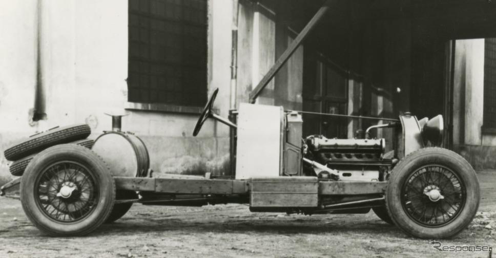 アルファロメオ 6C 1750 スーパースポルト の車台(1929年)《photo by Alfa Romeo》