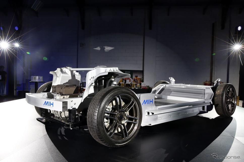 フォックスコン・テクノロジー・グループの次世代EVのオープンプラットフォーム「MIH」《photo by Foxconn》