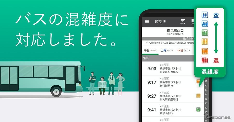 バス混雑予測《写真提供 ナビタイムジャパン》