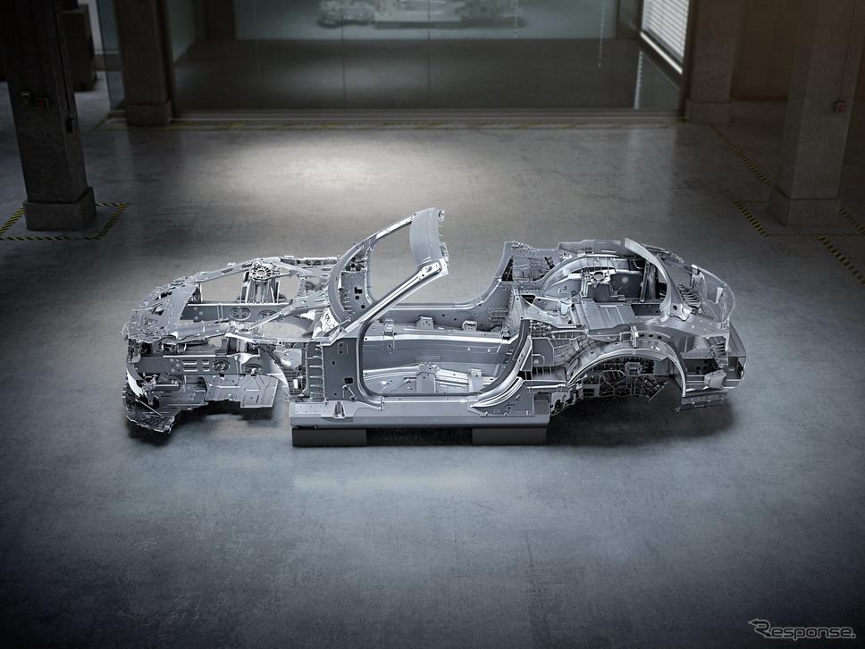 メルセデスAMG SL のホワイトボディ《photo by Mercedes-Benz》