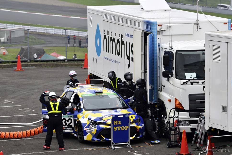 富士24時間レース:水素カローラ《写真撮影 雪岡直樹》