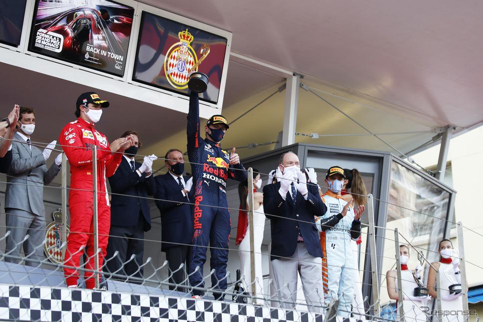 フェルスタッペン(レッドブル・ホンダ)、F1モナコGP優勝《写真提供 ホンダ》