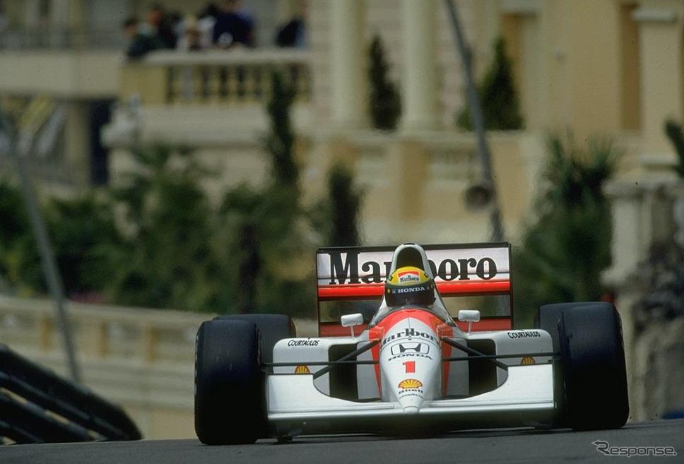 セナ(マクラーレン・ホンダ)、1992年F1モナコGP《Pascal Rondeau/Allsport/Getty Images Sport/ゲッティイメージズ》