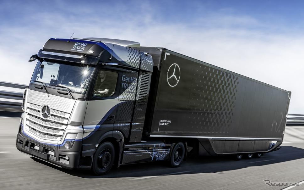 メルセデスベンツの水素燃料電池トラックのプロトタイプ《photo by Daimler Truck》