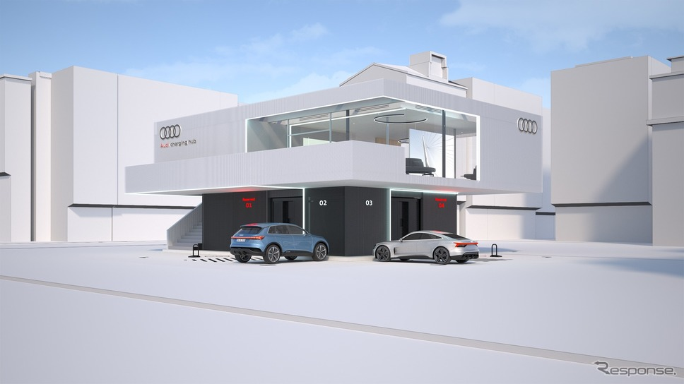 「アウディ充電ハブ」の完成イメージ《photo by Audi》