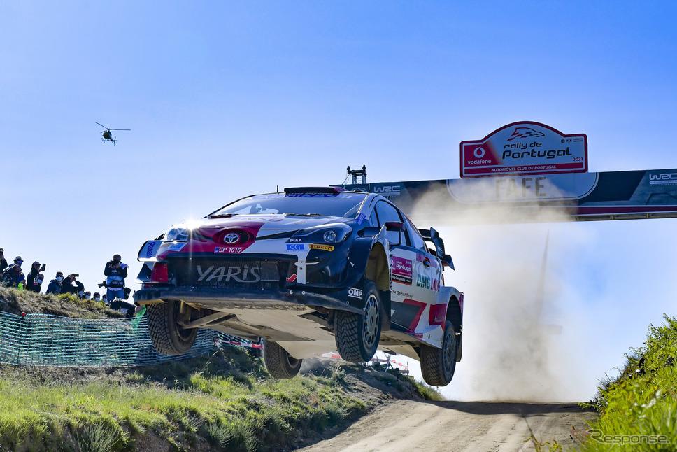 WRC第4戦ポルトガルで優勝した#33 エバンス(トヨタ)。《Photo by TOYOTA》