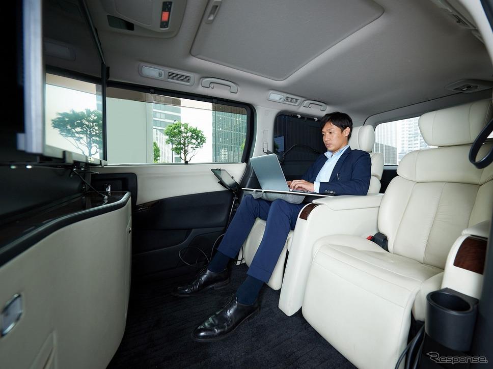 「移動会議室」の室内空間《写真提供 日産自動車》