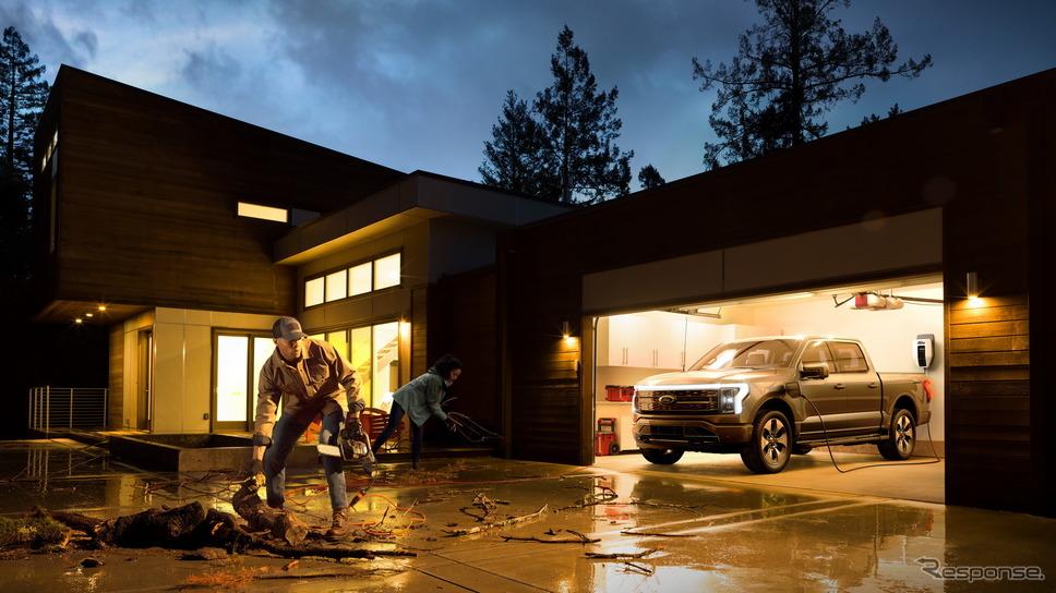 フォードモーターのフォード F-150 ライトニング プロ《photo by Ford Motor》