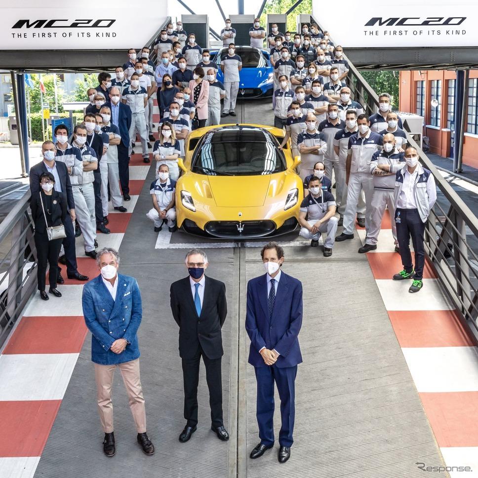 イタリアのマセラティ工場を訪問したステランティスのカルロス・タバレスCEO《photo by Maserati》