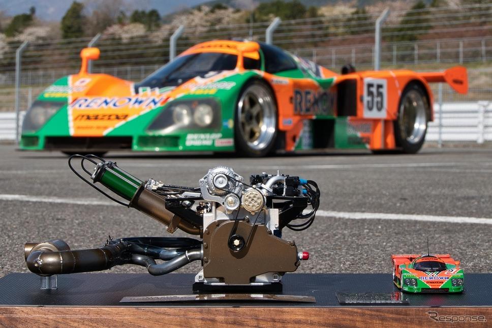マツダR26Bエンジンモデル 1/6スケール ルマン優勝30周年記念モデル《写真提供 MZRacing》