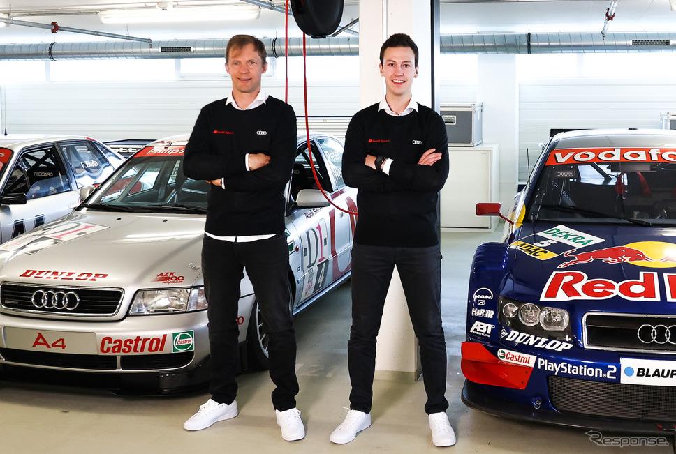 マティアス・エクストローム(左)《Photo by Audi》